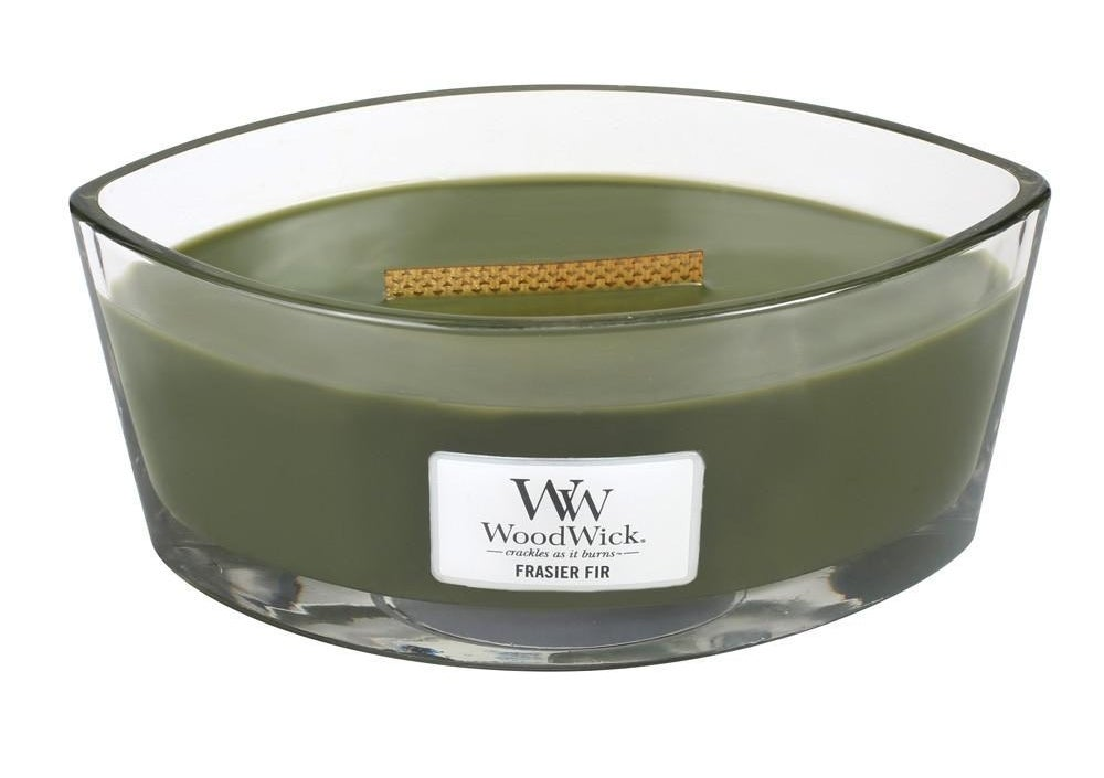 The green oblong candle
