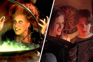 Winifred Sanderson, Max Dennison and and Allison from Hocus Pocus