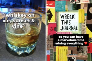 whiskey ice and journal