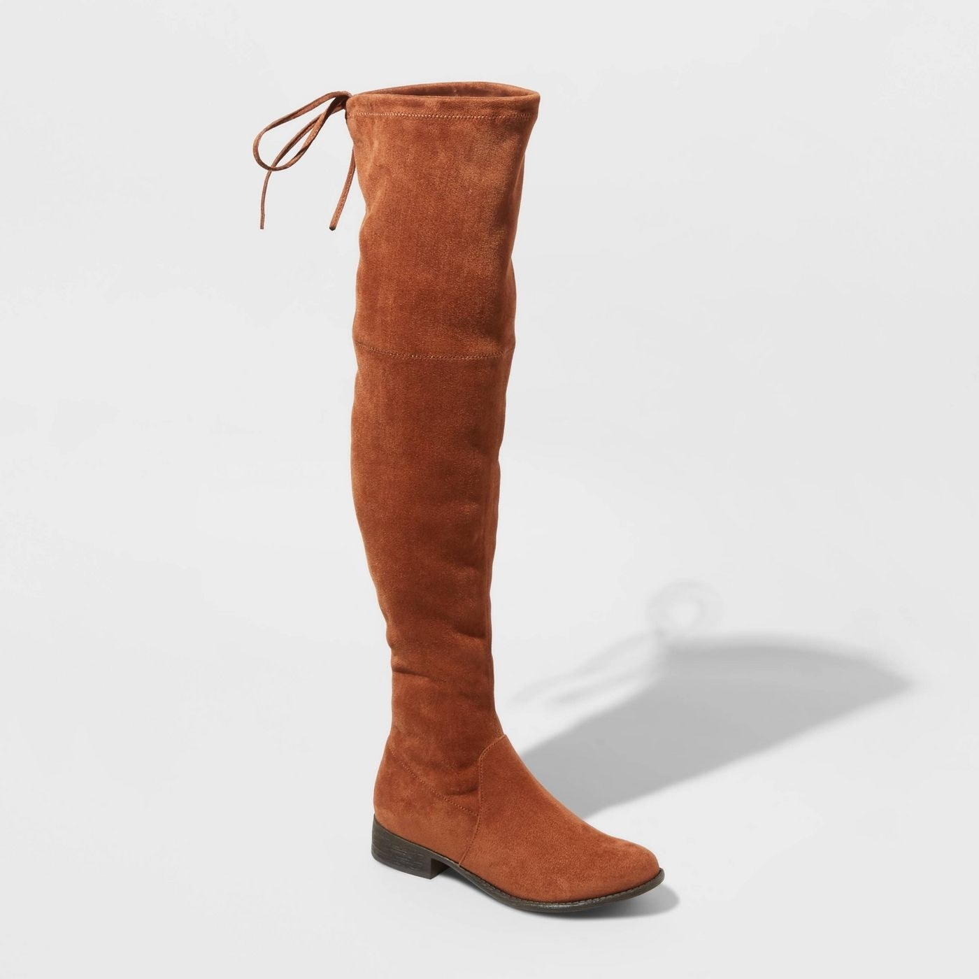 Tan over the knee microsuede boots