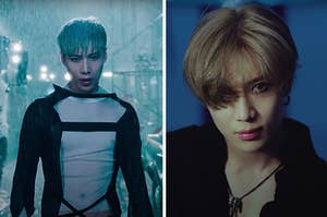Images of Taemin from the music videos for Want and Move