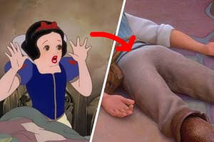 Snow White screaming at a Disney guy's butt