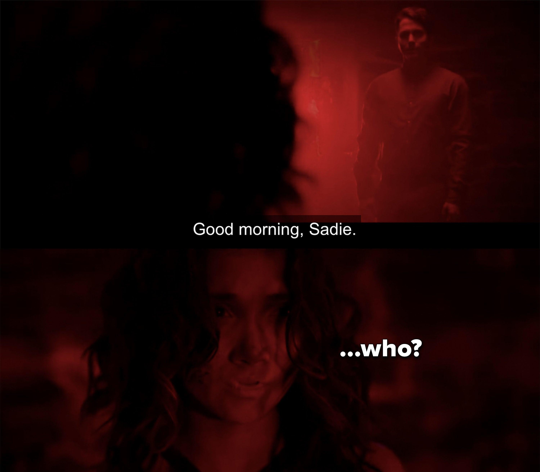 """Brad: """"Good morning Sadie"""""""
