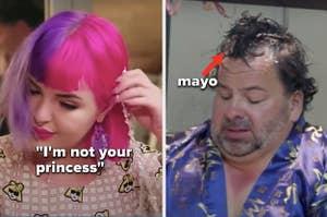 Erika rips off her tiara, Ed uses mayo as hair gel