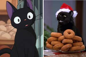 Images of Jiji from Kiki's Delivery Service and Salem from Sabrina the Teenage Witch