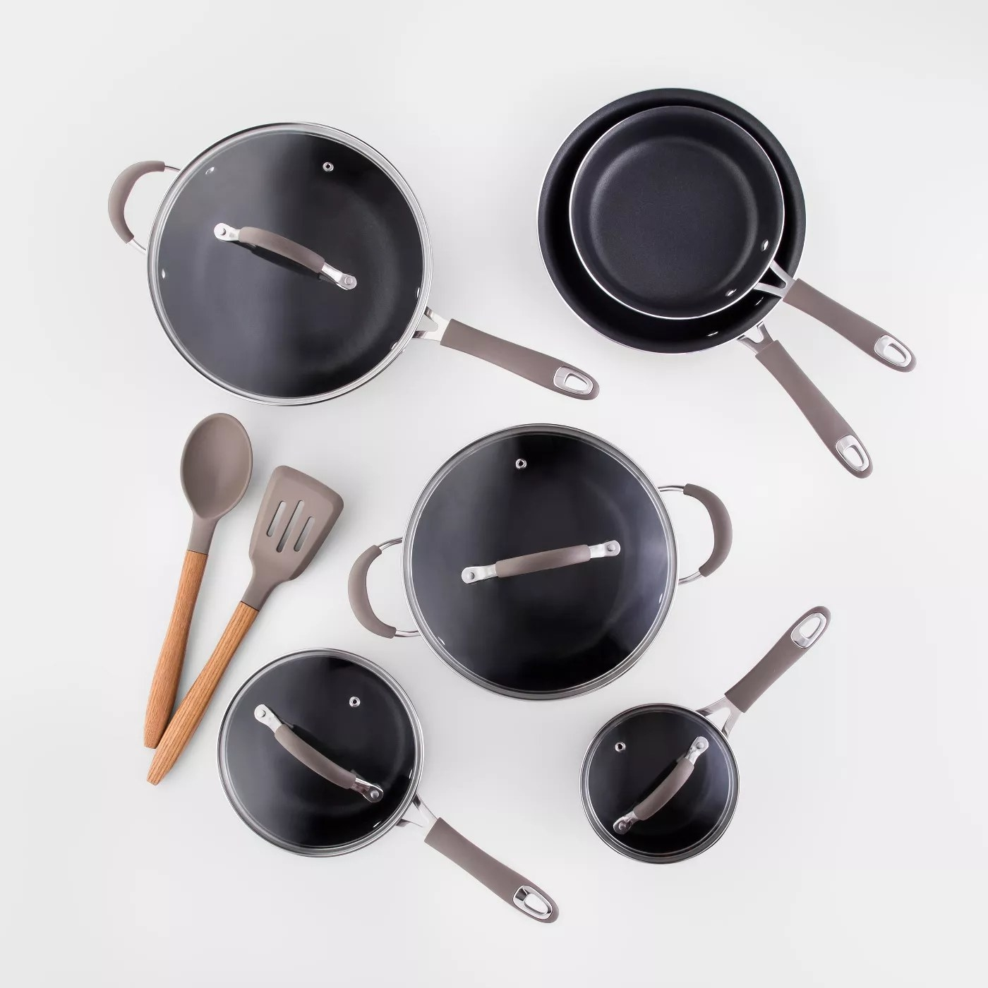 The complete cookware set in gray