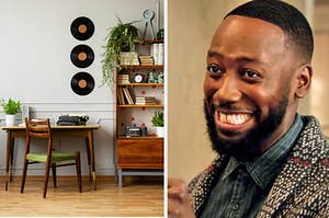 """A retro and vintage home office; Winston Bishop from """"New Girl"""""""