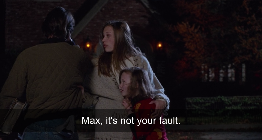 Allison attempting to console Max.