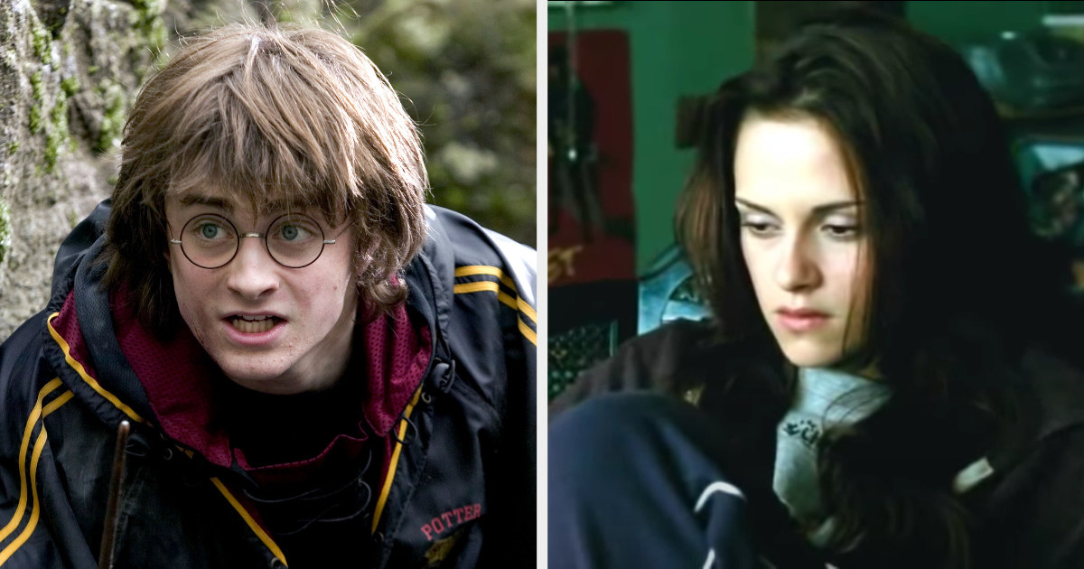 Harry in the Triwizard Tournament and Bella sitting sadly in her room