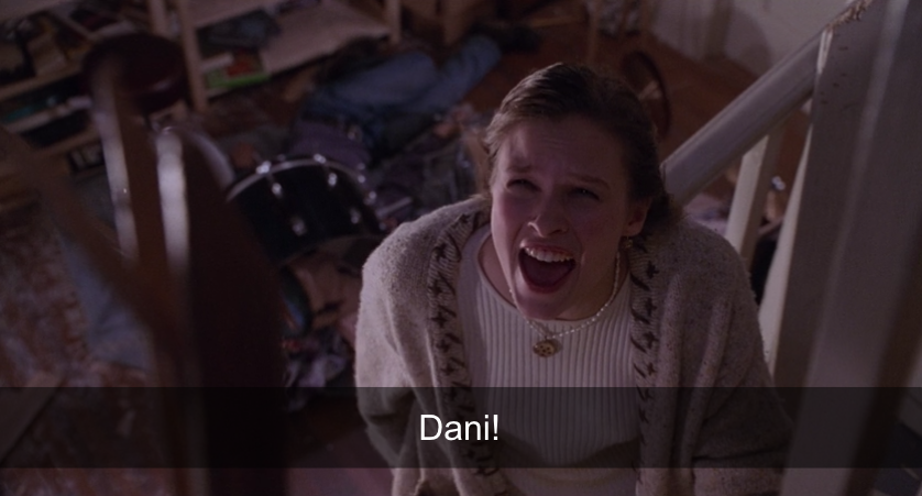 Allison screaming after Dani.