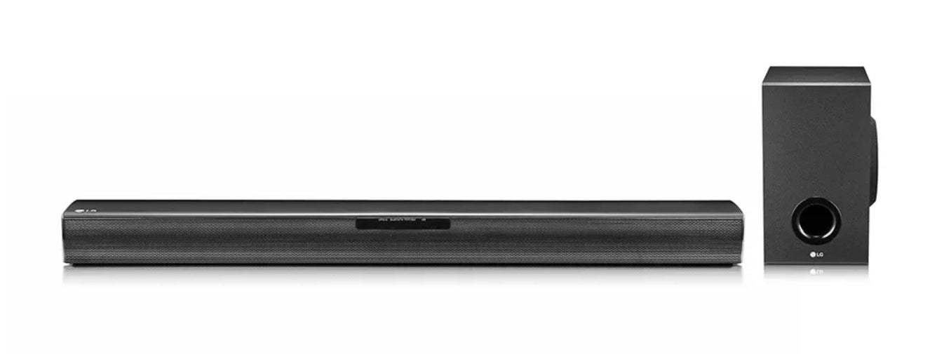 A black sound bar