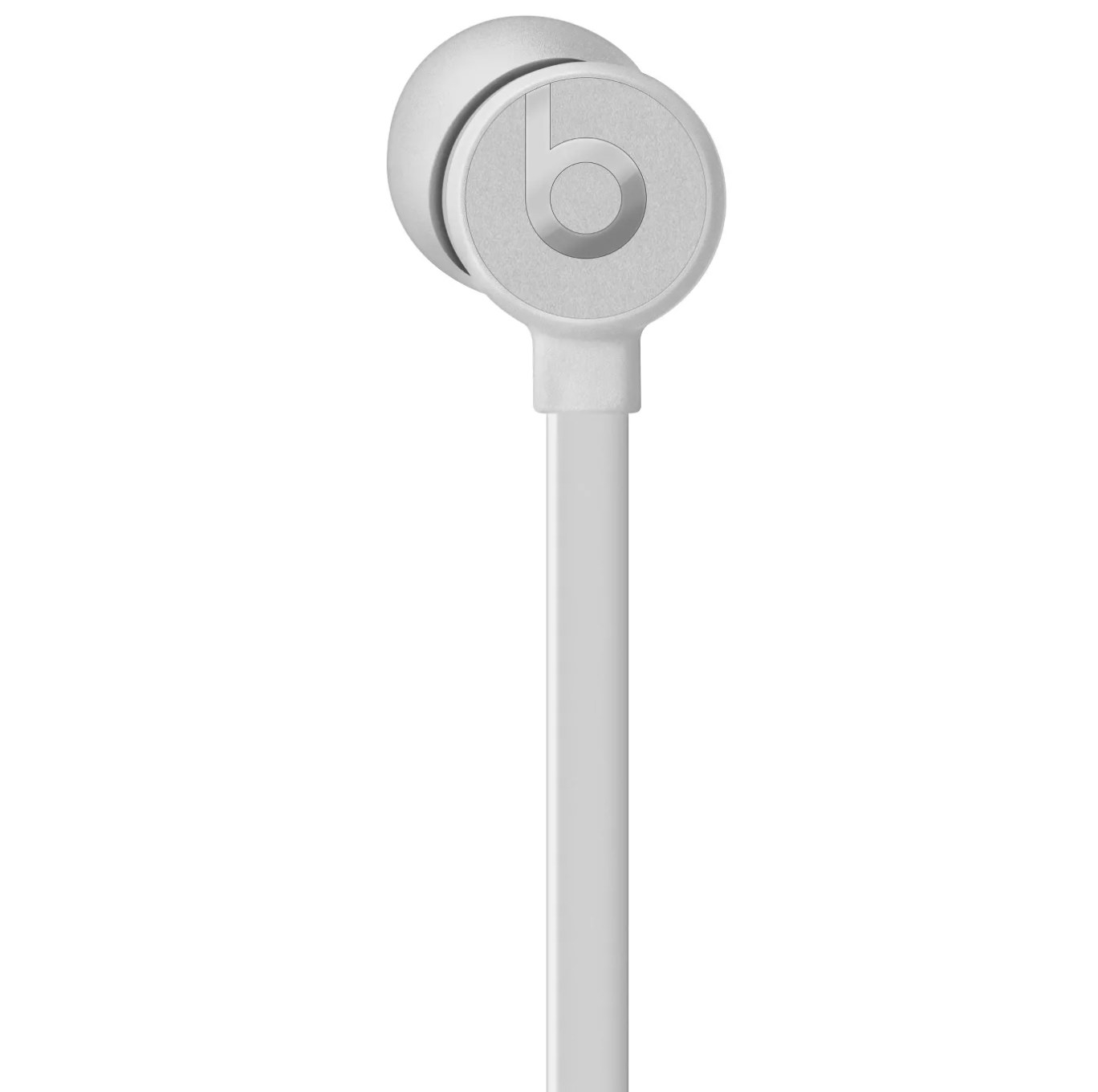 A white urBeats3 earphone
