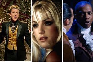 Brandon Flowers, Britney Spears, and Leslie Odom Jr.