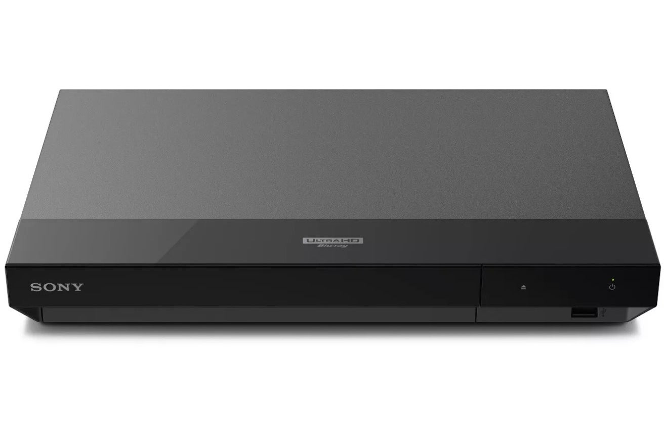 A black Sony blu-ray player