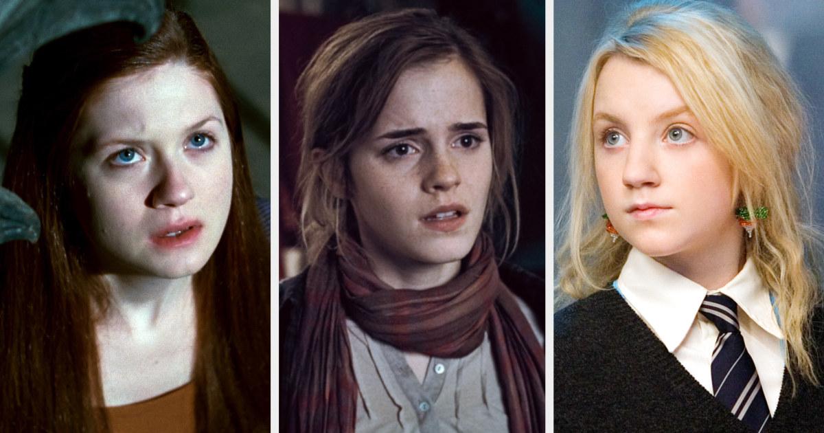 Ginny, Hermione, and Luna