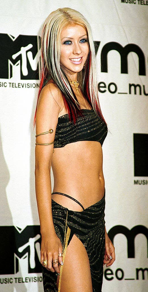 Christina Aguilera with exposed thong