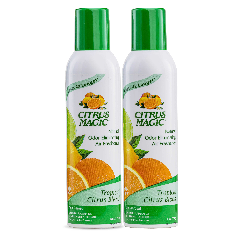 two bottles of citrus magic odor eliminating air freshener