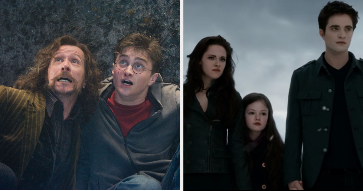 Sirius and Harry together, and Bella, Renesemee, and Edward together