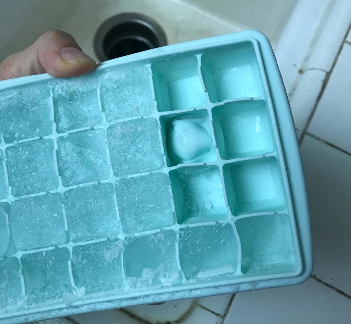 A reviewer's ice tray