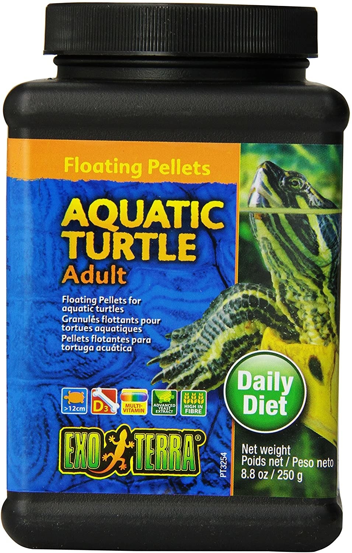 bottle of exoterra floating pellets
