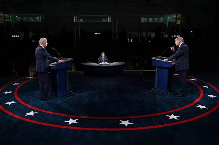 Biden and Trump at the presidential debate