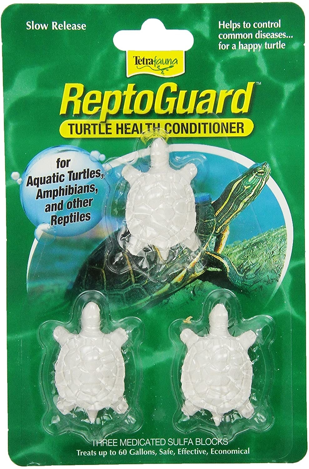 package of three reptoguard turtle health conditioner