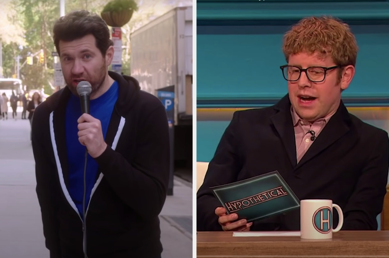Billy Eichner and Josh Widdicombe, co-host of Hypothetical