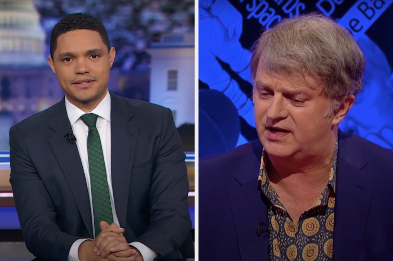 Trevor Noah and Paul Merton from Have I Got News For You