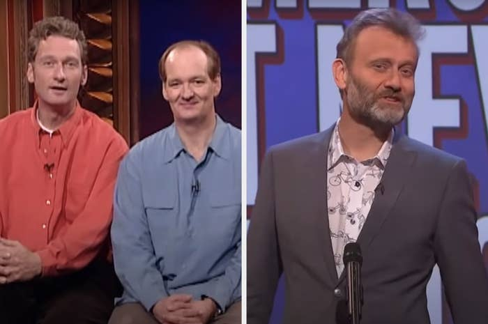 Colin Mochrie and Ryan Stiles from Whose Line and Hugh Denis from Mock the Week