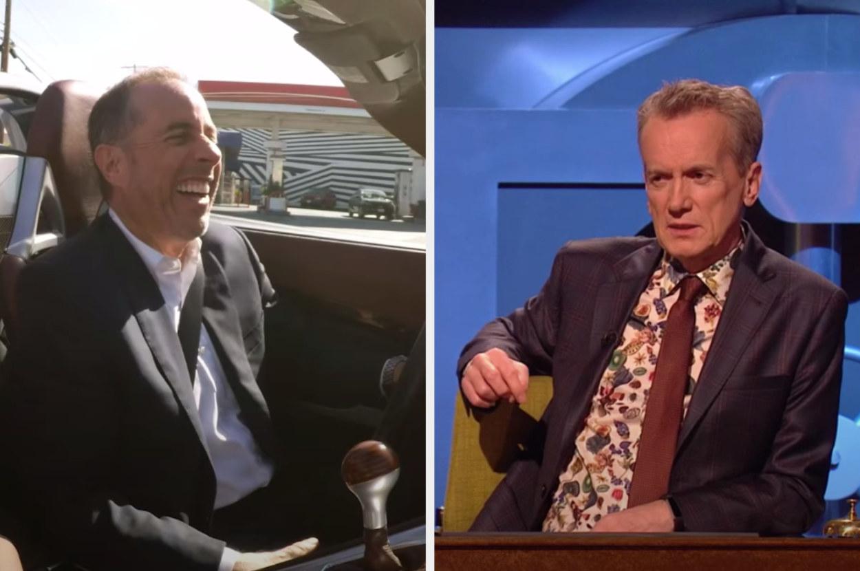 Jerry Seinfeld and Frank Skinner, host of Room 101