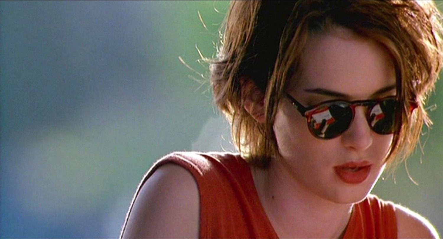 Winona Ryder wearing shades in Reality Bites