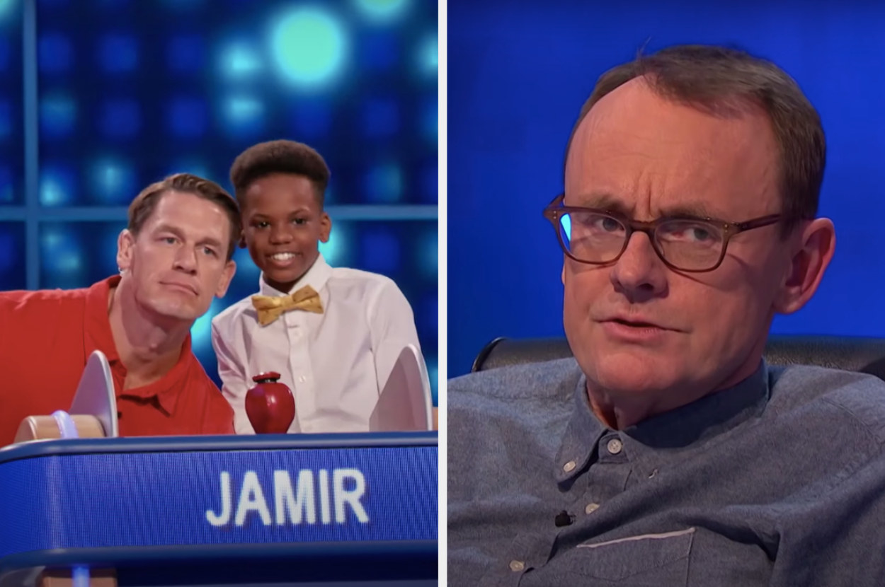 Jon Cena and 5th grader Jamir and Sean Lock on 8 Out of 10 Cats Does Countdown