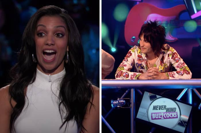 Corinne Foxx on Beat Shazam and Noel Fielding on Never Mind the Buzzcocks