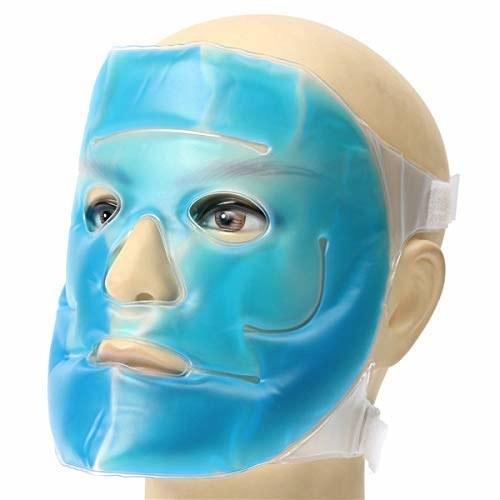 A blue face mask