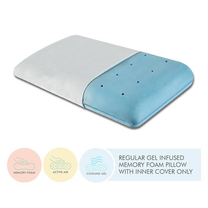 A blue pillow