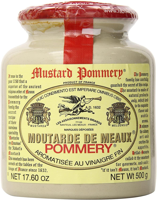 A jar of Pommery Meaux mustard.