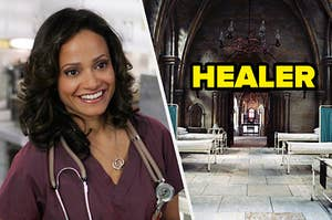 Carla from Scrubs being a healer in the wizarding world