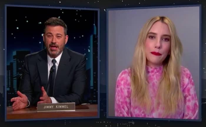 Emma Roberts and Jimmy Kimmel