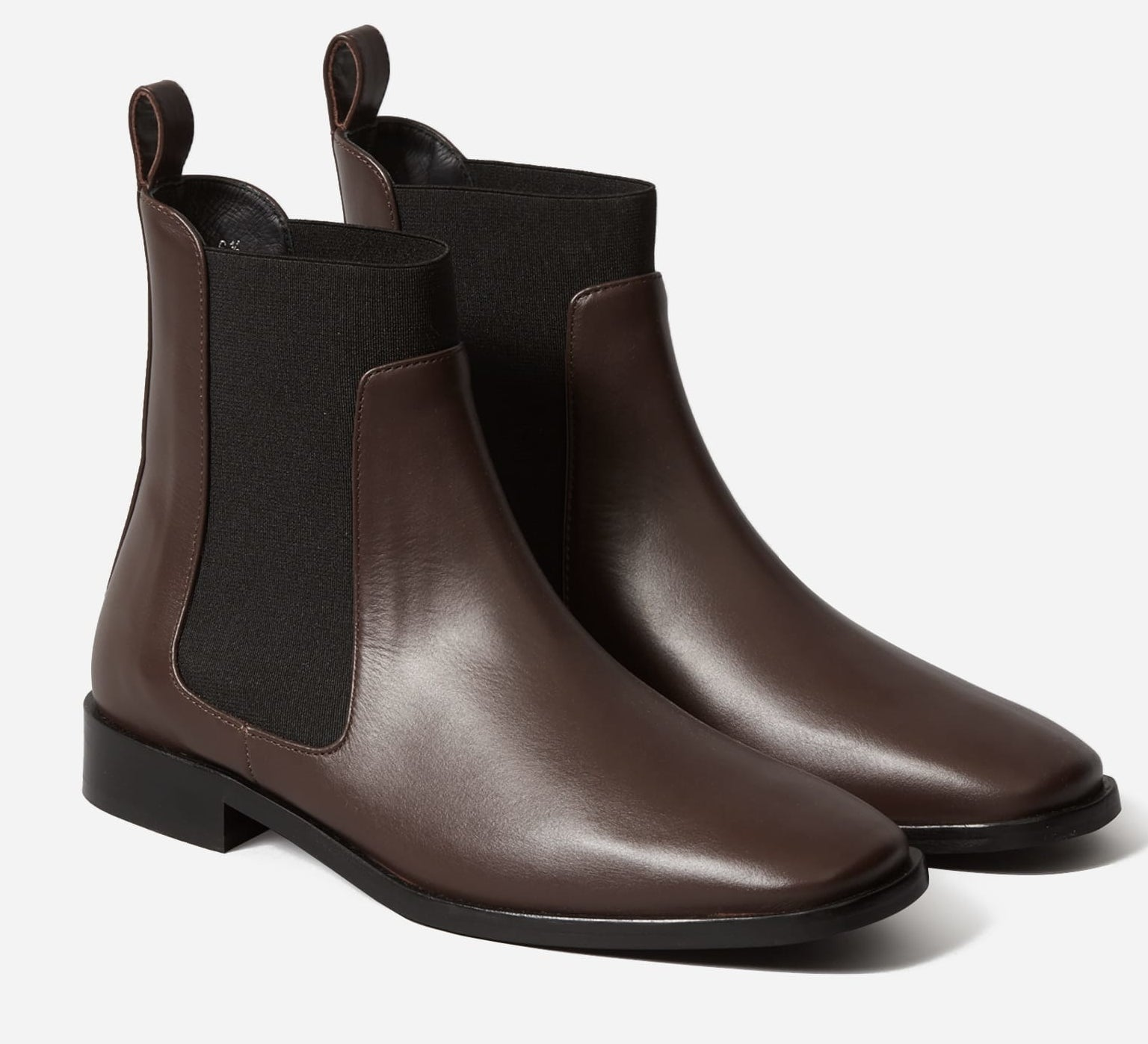 the brown and black boots