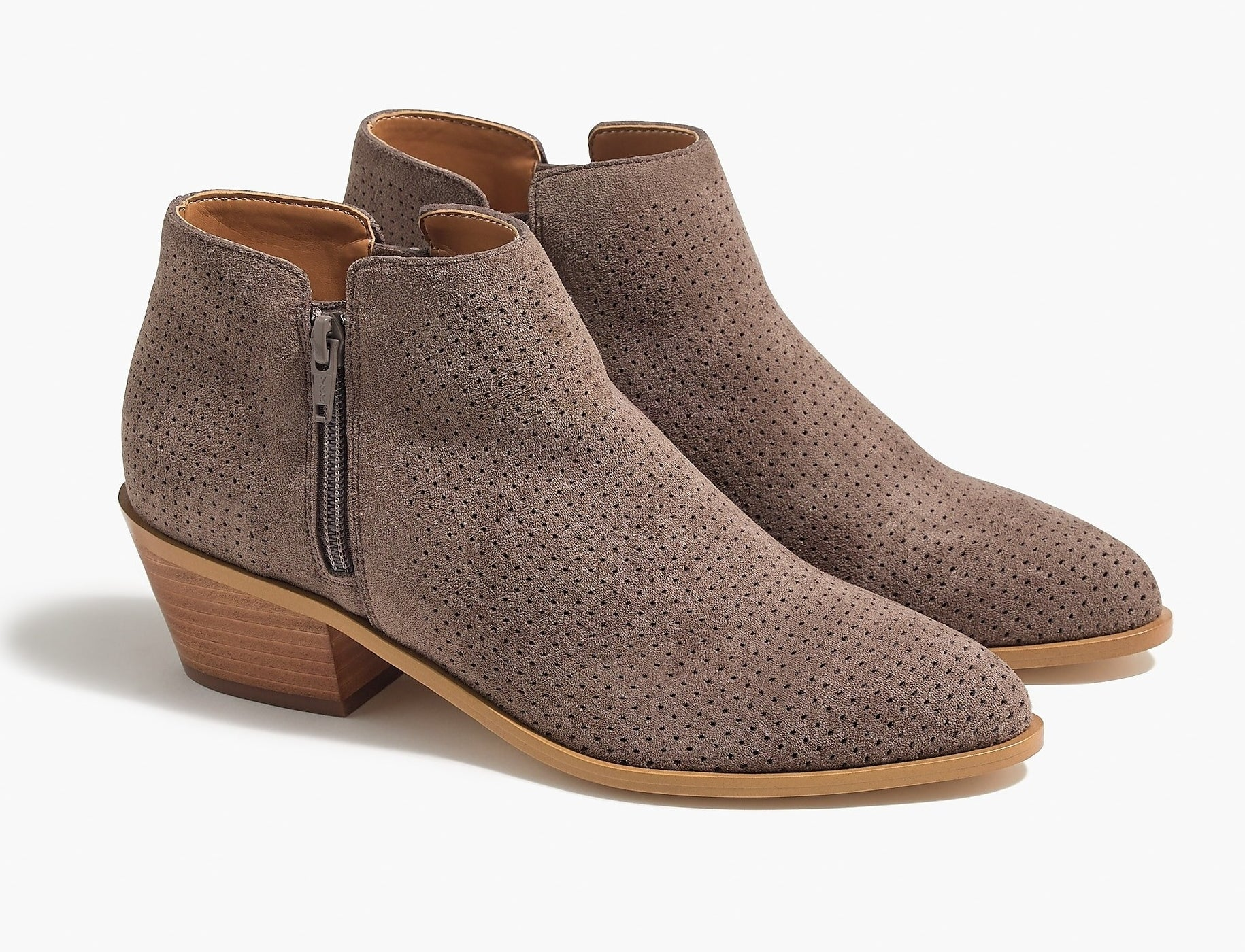 the taupe booties