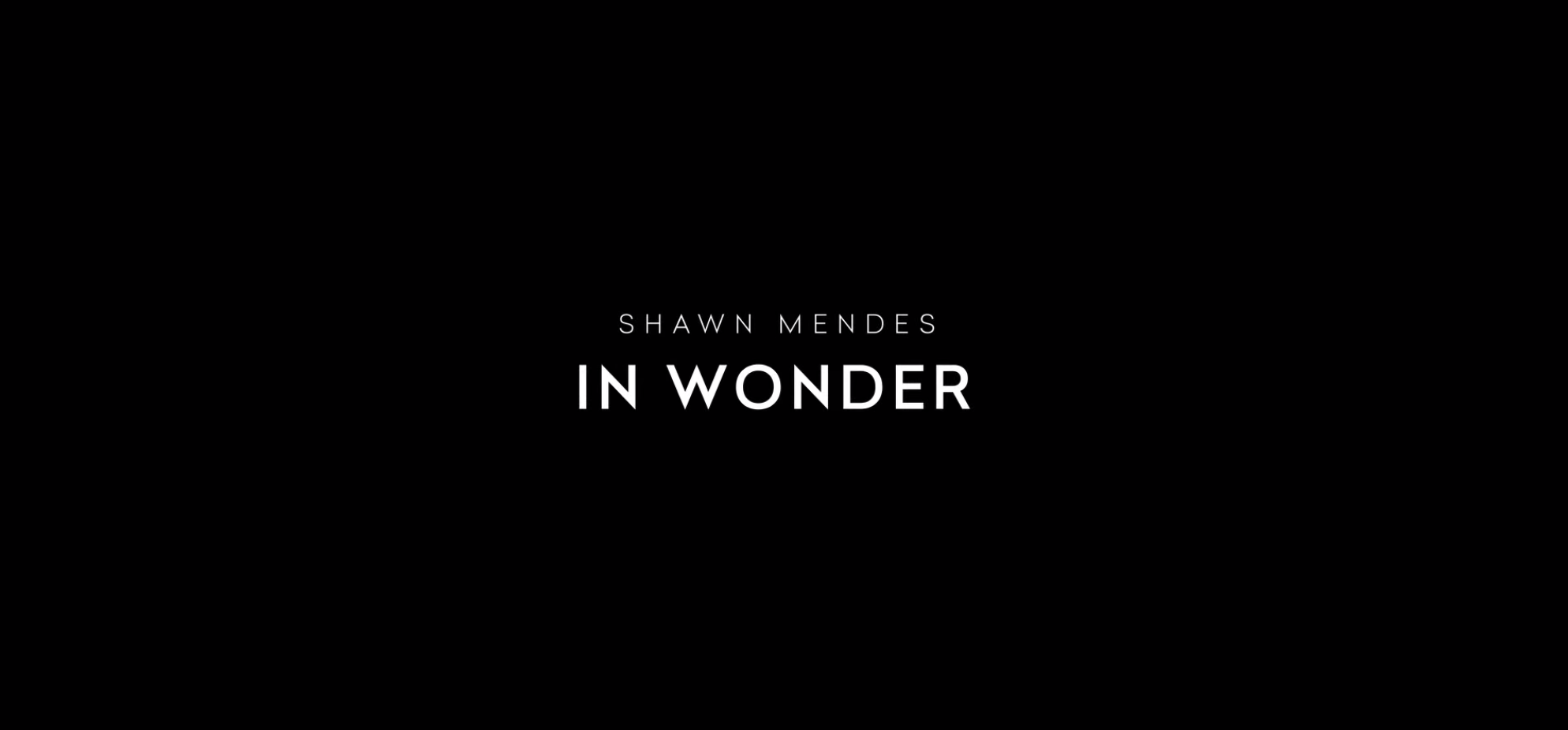 "Title card for Shawn Mendes' ""In Wonder."""