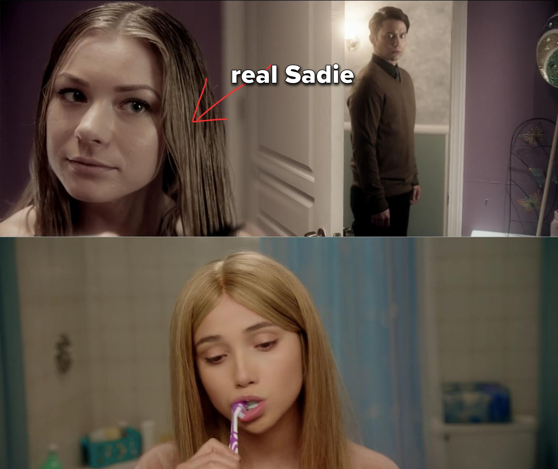 flashback of Brad's sister Sadie alongside Chelsea