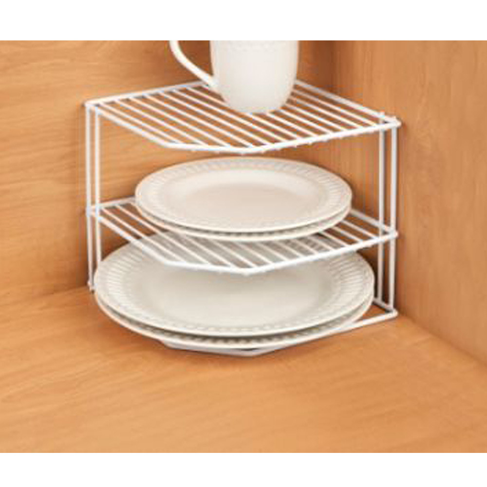 The wire corner shelf rack