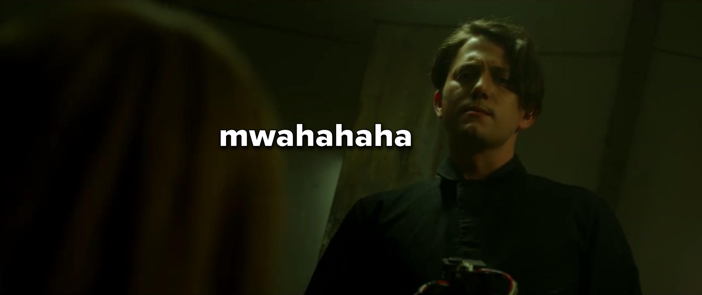 """Brad captioned """"mwahahaha"""""""