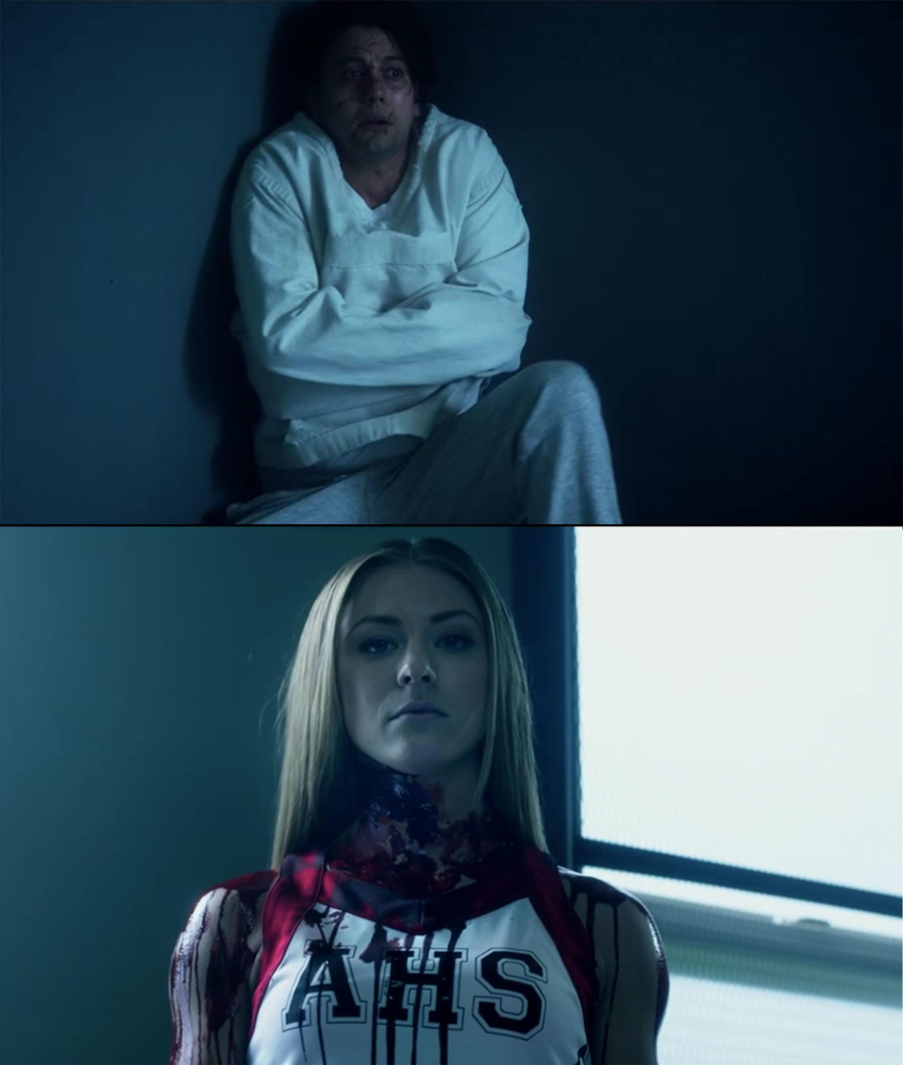 Brad in psychiatric hospital hallucinating bloody Sadie standing over him