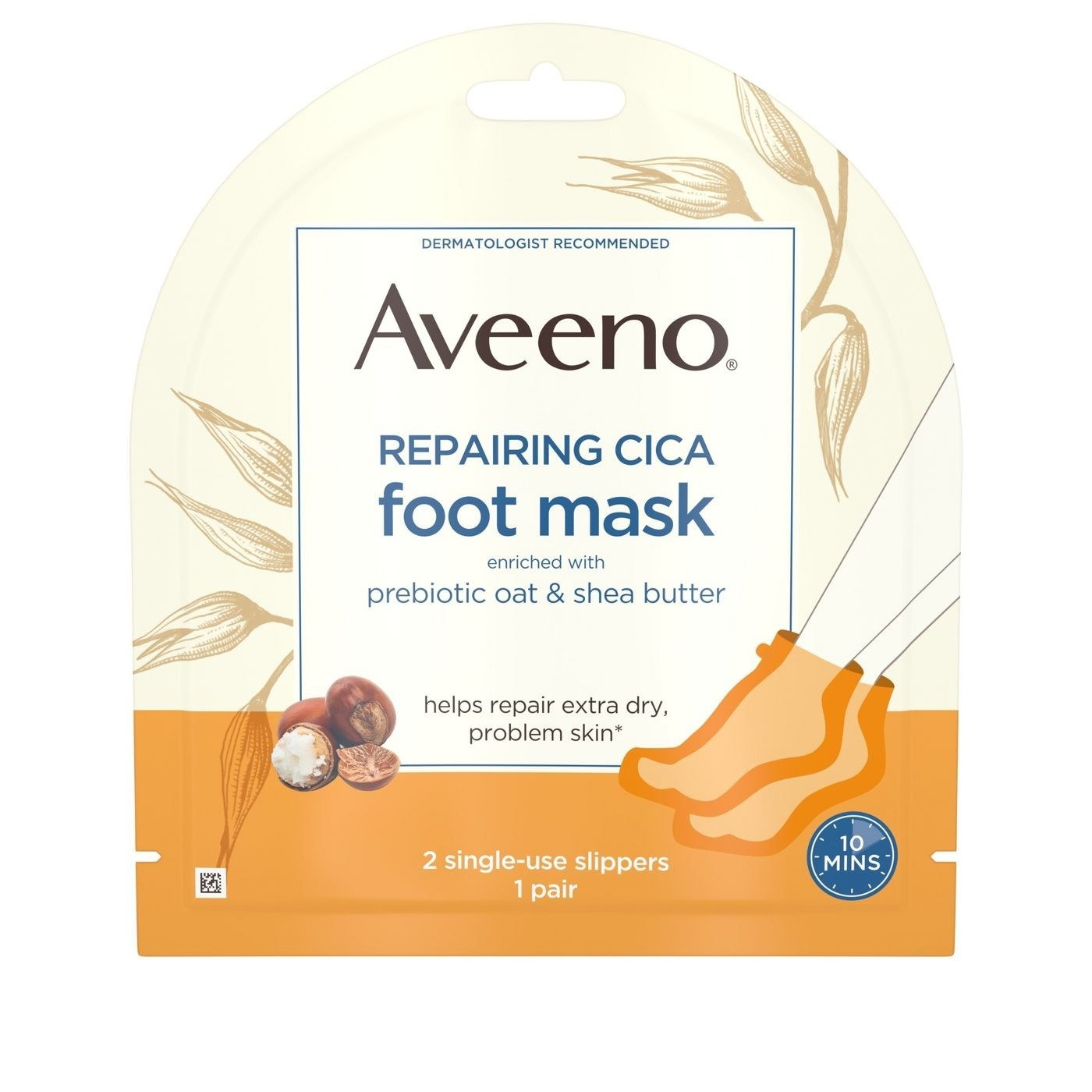 The aveeno repairing cica foot mask
