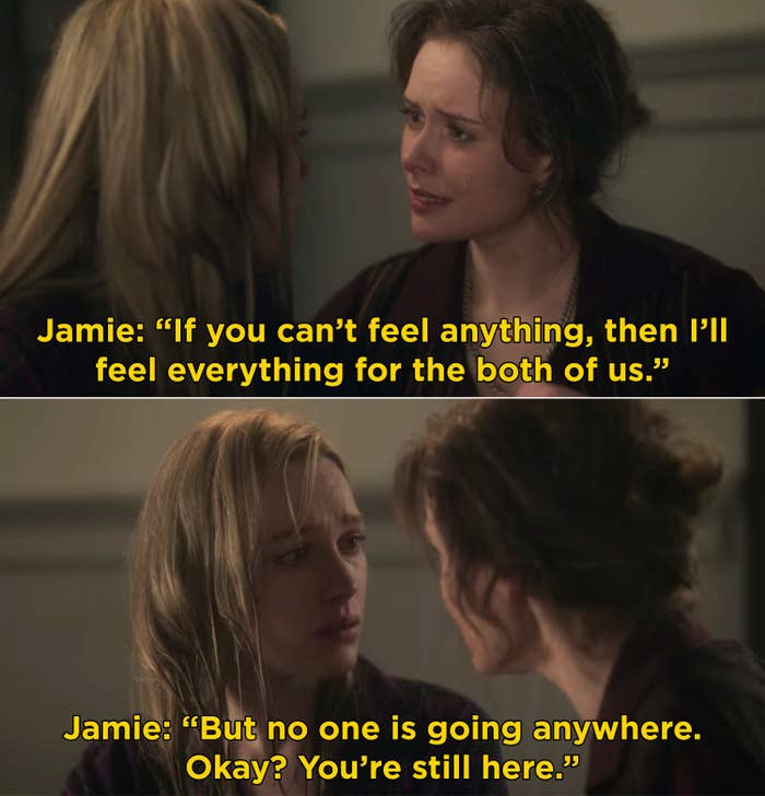 """Jamie saying that she will feel everything for both her and Dani, but Dani can't go anywhere cause she is """"still here"""""""