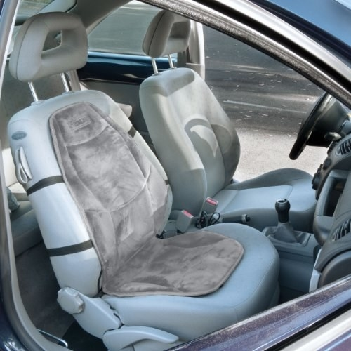 The heated seat cushion installed on a car seat