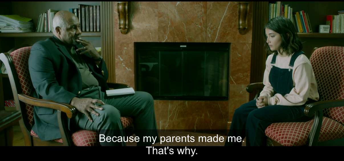"""Chelsea in therapist's office: """"Because my parents made me, that's why"""""""
