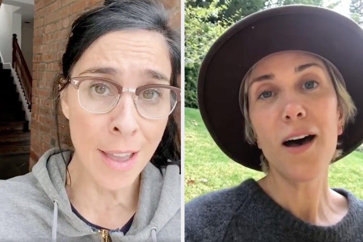 """Sarah Silverman Said She Only Did Gal Gadot's Controversial """"Imagine"""" Video Because She """"Couldn't Say No"""" To Kristen Wiig"""